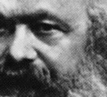 Karl Marx Floating Head Sticker