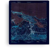 USGS TOPO Map Puerto Rico PR San Juan 362583 1947 30000 Inverted Canvas Print