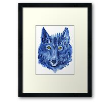 Wolf. Forest animal. Watercolor Animal Wolf. Framed Print