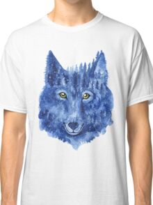 Wolf. Forest animal. Watercolor Animal Wolf. Classic T-Shirt