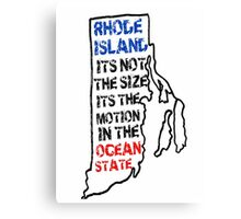 "Rhode Island NEW LOGO ""Cooler and Warmer"" Ocean State Pissed off Canvas Print"