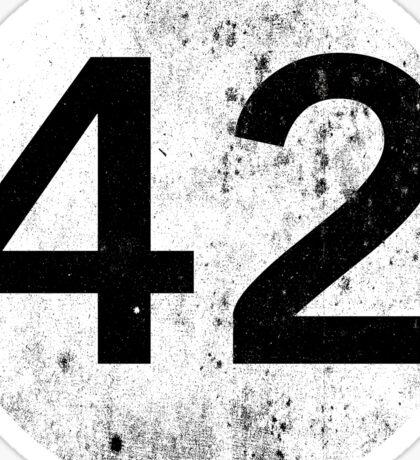 42 - Black Circle Sticker