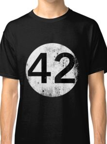 42 - Black Circle Classic T-Shirt