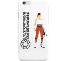 Chell and Aperture Science Logo iPhone Case/Skin