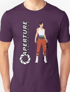 Chell and Aperture Science Logo T-Shirt