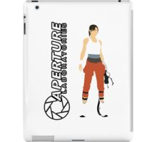 Chell and Aperture Science Logo iPad Case/Skin
