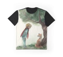 Little Prince and the Fox Graphic T-Shirt