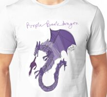 Purple Book Dragon (@earthent) Unisex T-Shirt