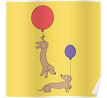 Weiner Dog Party Poster