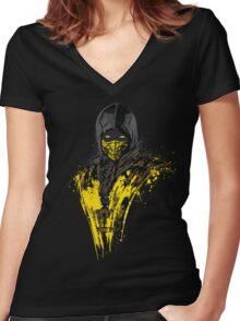 Mortal Fire Women's Fitted V-Neck T-Shirt