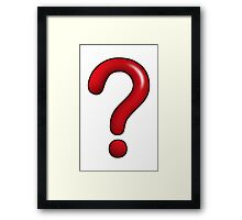 Doctor Who-Style Red Question Mark Framed Print