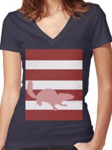 Squirrel Women's Fitted V-Neck T-Shirt