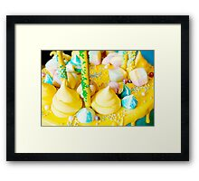 Beautiful bright colorful sweets for Birthday cake Framed Print