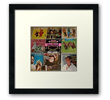 Vintage Records Collection 1A Framed Print