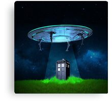 Tardis UFO Canvas Print
