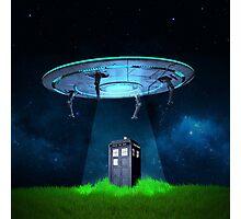 Tardis UFO Photographic Print