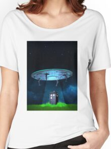 Tardis UFO Women's Relaxed Fit T-Shirt