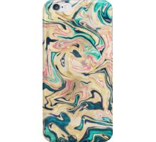 Modern marbled abstract paint iPhone Case/Skin