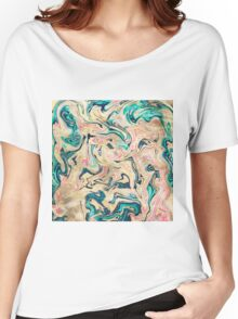 Modern marbled abstract paint Women's Relaxed Fit T-Shirt