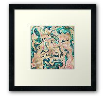 Modern marbled abstract paint Framed Print