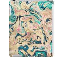 Modern marbled abstract paint iPad Case/Skin