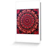 Red & Orange Mandala Greeting Card