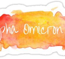 Alpha Omicron Pi Watercolor  Sticker