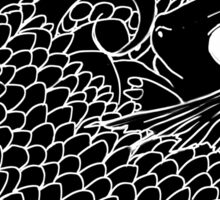 Hatchling -  White Line Art on Black  Sticker