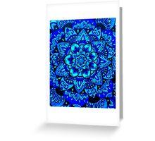 Blue Mandala Greeting Card
