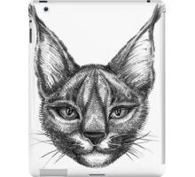 Caracal cat bw iPad Case/Skin