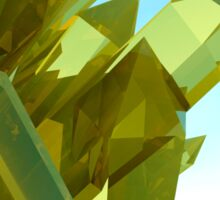 3d Yellow Crystals Sticker