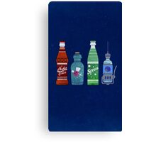 Old-timey Game Drinks Canvas Print