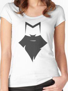 Meninist Baseball Tee - Black/White Women's Fitted Scoop T-Shirt