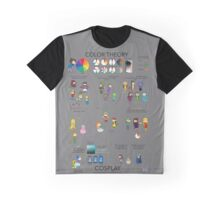 Color Theory Poster with Cosplay Graphic T-Shirt