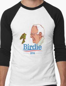 Birdie Sanders Bernie Sanders #BirdieSanders President #FeelTheBird Feel The Bern Cartoon Meme Green Men's Baseball ¾ T-Shirt