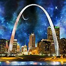 Spacey St. Louis Skyline by Susan S. Kline