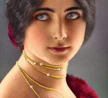 Colorized Vintage Portrait of Cleo De Merode 1903 Sticker