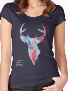Catherine's Deer - Dark Shirts Women's Fitted Scoop T-Shirt