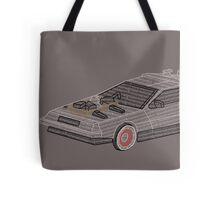 DeLorean Typography Tote Bag