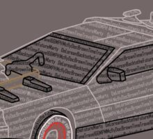 DeLorean Typography Sticker