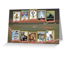 Greatest Baseball Movies with Field of Dreams Quote Greeting Card