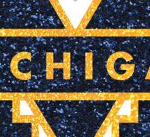 Glitter Michigan M Sticker