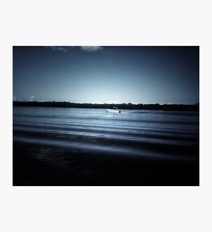 Glass Water Boat Photographic Print