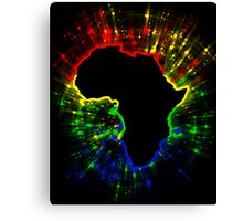 African Continent,South African Flag Colours Canvas Print