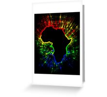 African Continent,South African Flag Colours Greeting Card