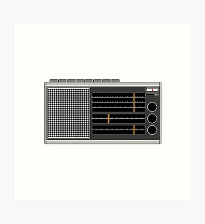 Pixel Radio 2 of 3 Art Print