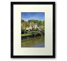 The Town of Bradford on Avon, Wiltshire, United Kingdom. Framed Print