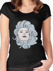 Madame Leota (Haunted Mansion Fashion Drawing) Women's Fitted Scoop T-Shirt