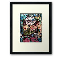Ginger and her Coat of Many Colours Framed Print