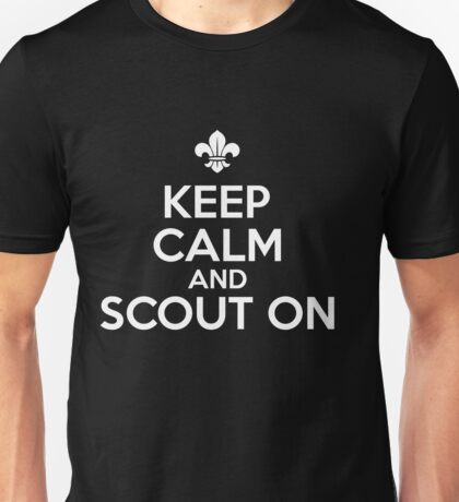 Keep calm and scout on Unisex T-Shirt